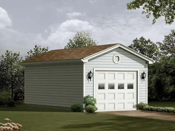 Awesome 1 Car Garage Plans One Car Blueprints Garage Plans And More Largest Home Design Picture Inspirations Pitcheantrous